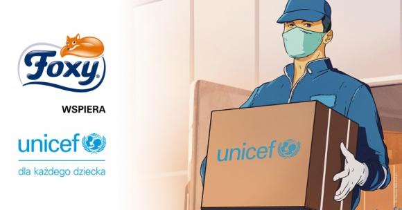 Foxy pomaga z UNICEF w walce z koronawirusem Problemy społeczne, BIZNES - W mijającym roku dzięki działaniom UNICEF udało się dostarczyć m.in. środki ochrony osobistej do 1,8 mln pracowników medycznych oraz 2,5 mln zestawów do testowania na obecność COVID-19 do 56 krajów na całym świecie.